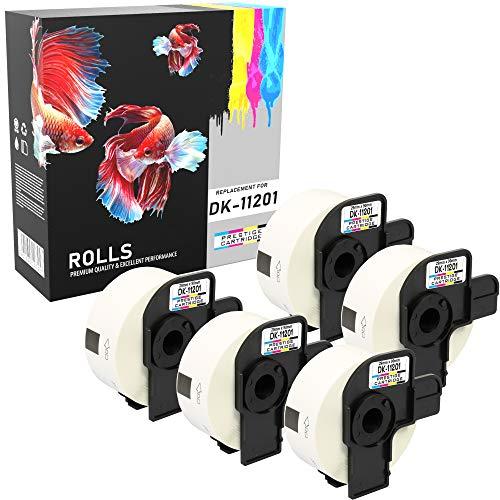 Prestige Cartridge DK-11201 DK11201 Etiquetas de Dirección 29mm x 90mm Compatible con Brother P-Touch QL-500 QL-570 QL-700 QL-710W QL-720NW QL-800 QL-810W QL-820NWB 1050 QL-1100 QL-1110NWB | 5 Rollos