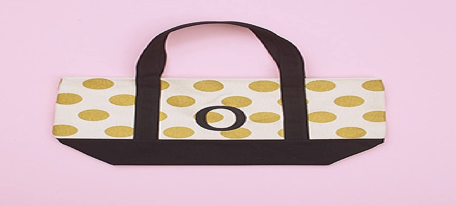 The Lakeside Collection gold Dot Monogram Tote O
