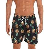 SCYDAO Troncos De Natación para Hombres Quick Seco Impreso con Cordón Pantalones Cortos De Tablero De Playa con Forro De Malla,Style d,M