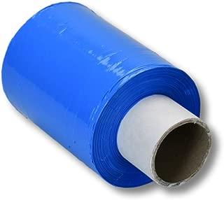5 Rollen Mini Stretchfolie / 100mm x 150m / 23my / Farbe: blau