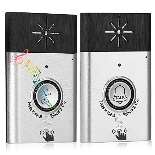 Two-Way Voice intercom Doorbell Wireless Voice Intercom Doorbells Home Doorbell Intercom Kit LED Indoor Outdoor Interphone System HomeImprovement Security Electronic New Type