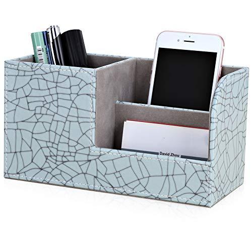 GORESE Multifuncional Portalápices Organizador de escritorio de oficina (Pale Green - Ice Cracks Pattern)