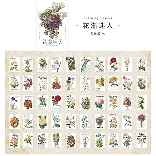 12 Design 50pcs / Nature Scenery Stationery Sticker Book Parole inglesi Cute Bullet Diary Adesivo di cancelleria Coreano Estetica