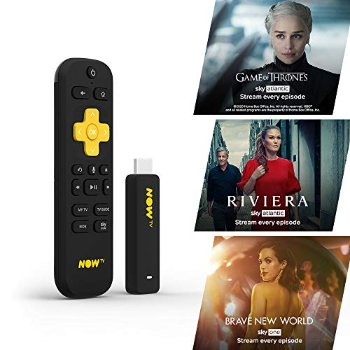 NOW TV Smart Stick con 1 mese Entertainment Pass | HD Streaming Media Player - Guarda Disney+, YouTube, Netflix, BBC iPlayer e altro ancora