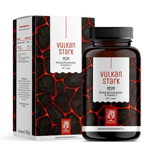 240 MSM Tabletten Hochdosiert - 2000mg MSM mit natürlichem Vitamin C aus Acerola - Vorrat für 4 Monate - alternative zu MSM Kapseln hochdosiert - Methylsulfonylmethan vegan laborgeprüft