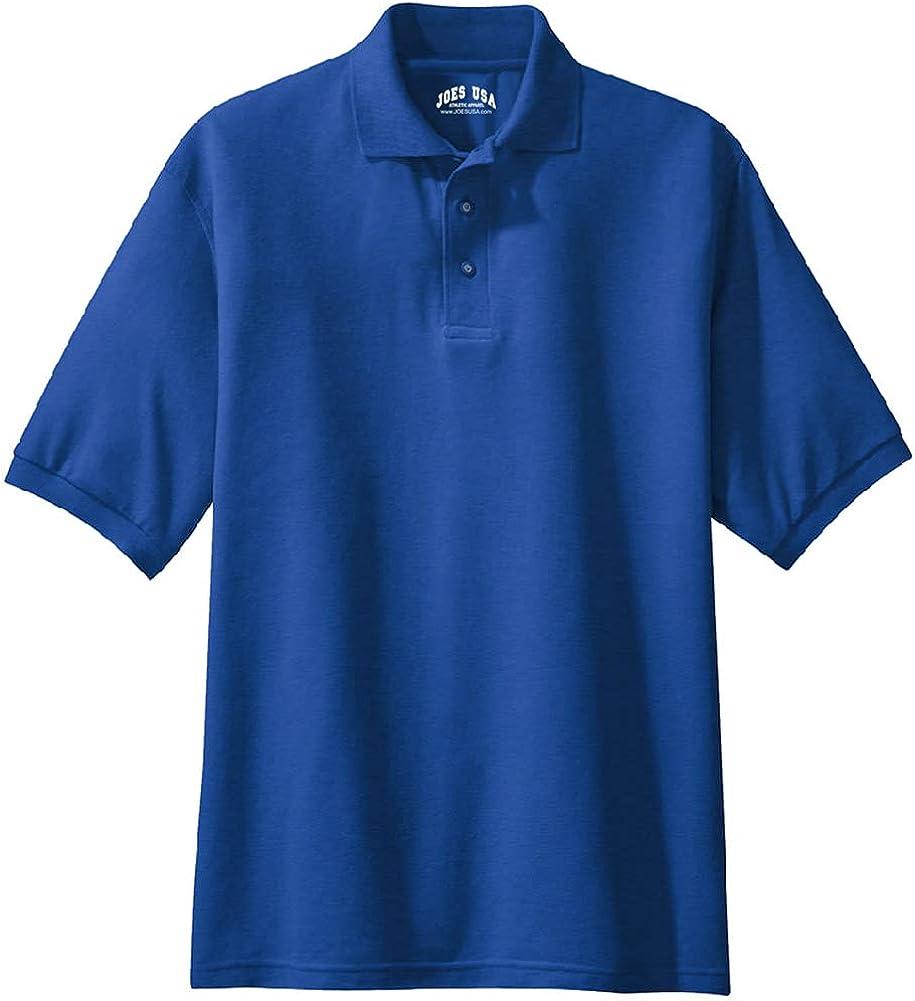Joe's USA Men's Classic Polo Shirts - Tall Large LT (41-43) - Royal