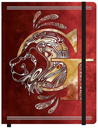 Caderneta Anotação 190 x 245 mm G 80 Folhas Harry Potter Gryffindor, jandaia