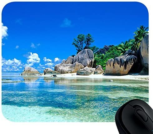 Mouse Pad Beaches online shop France Seychelles Mousepad Custom Be super welcome Rectangular