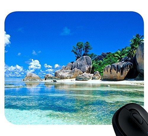 Mouse Pad Beaches France Seychelles Mousepad,Custom Rectangular