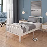 Panana Single Bed Solid Wood Bed Frame 3ft <span class='highlight'>White</span> Wooden For Adults, <span class='highlight'>Kids</span>, Teenagers (<span class='highlight'>White</span>)