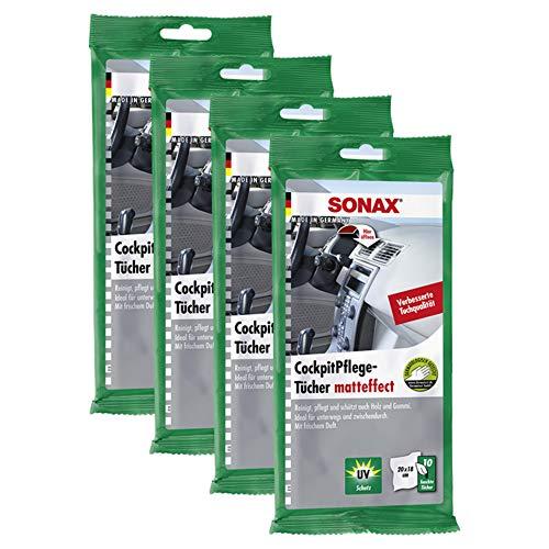 Sonax kunststofverzorging zijdemat 10 stuks autopolitoer polijstproducten anti-frost & doorzichtig ruitenreiniger zwart lakreiniger