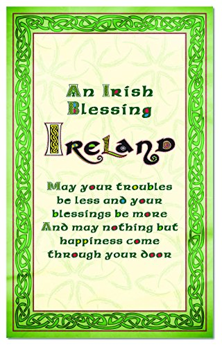 Celtic Collection Single T-Towel With Irish Blessing