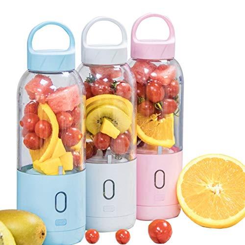 Find Discount Portable Electric Juicer Blender-Cup Fruit Mixer Extractors Milkshake 550ml USB Rechar...