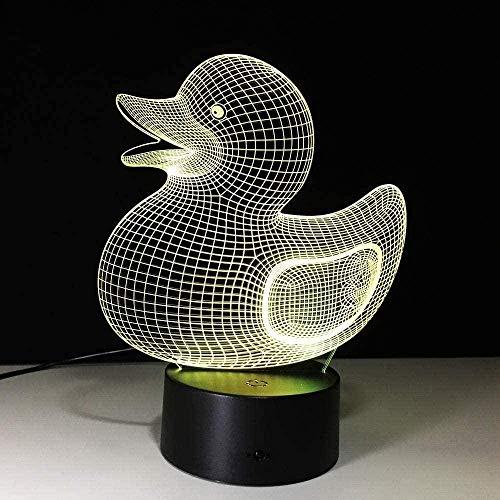 Karikatur Ente 3D magische Laterne führte Nachtlicht 7 Farbtransformation Fernbedienung Hauptdekoration Kindergeburtstag kreatives Geschenk