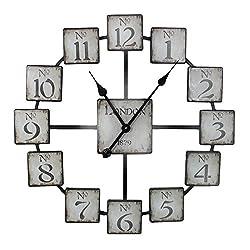 Benzara ETD-EN110316 Classic and Uniquely Designed Metal Wall Clock