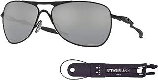 نظارات شمسية مربعة من أوكلي كروسشير OO4060 للرجال + مجموعة اكسسوارات سلسلة اوكلي