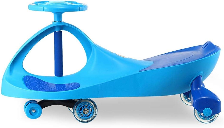 Enfants Twist voiture Universal Wheel Yo voiture 1-3 Ans Hommes et Femmes   Scooter Swing voiture avec Musique Xuan - Worth Having (Couleur   bleu, Taille   Flash Wheel)
