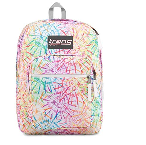 JanSport Trans 17 inch Supermax Backpack - Tie Dizzle White