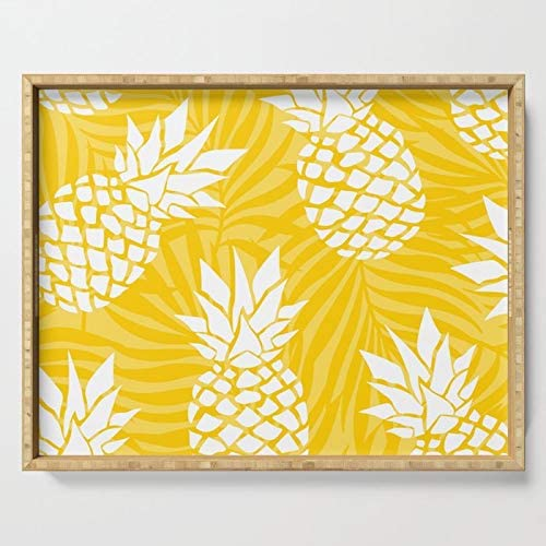 Bright Yellow Low price Summer Pineapple Art Mail order Serving Megan Morris by on