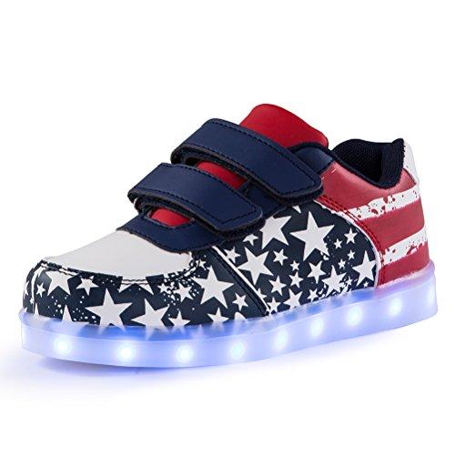 Voovix Unisex-Kinder Licht Schuhe mit...
