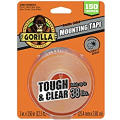Double-sided tape: Coated with adhesive on both sides for easy hanging. 38 Pounds Strong Hold: Sticks to smooth and rough surfaces. Instant hold, permanent bond: Fast & easy. Weatherproof: For indoor and outdoor use. Crystal Clear Adhesive: Won't yel...