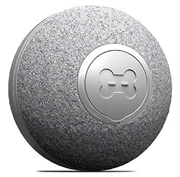 DIIBRA Cheerble Mini Ball 2.0 Jouet électrique pour chat Petit comme une balle de tennis de table avec revêtement en laine Interactif et 100 % automatique Petit et léger pour chat