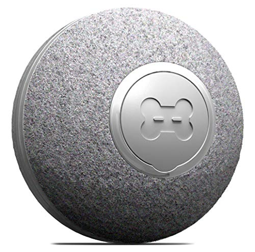 DIIBRA Mini Ball by cheerble - Katzenspielzeug elektrisch klein wie EIN Tischtennisball mit Wollummantelung - interaktiv & 100% automatisch - klein & leicht für Katzen