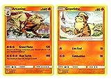 Arcanine Pokemon Evolution Card Lot - Growlithe - Unbroken Bonds 22/214 - Rare Card LOT