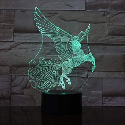 Luz nocturna 3D LED de luz nocturna Father Sagittarius is awesome para hombres, mujeres, niños, niñas, regalo Con interfaz USB, cambio de color colorido