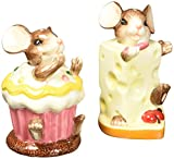 CG Mouse with Cheese and Cupcake Salt and Pepper Shakers, 3.5""