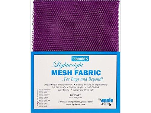 ByAnnie leicht, ca. 45x137cm, 100% Polyester Netzstoff, violett, 46 x 137 x 0.5 cm