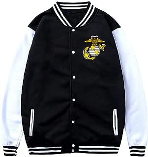 Men's USMC Marine Corps Baseball Jacket Uniform Unisex Coat