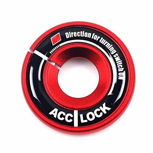 Ojo de la llave del encendido para coches Cogeek, anillo decorativo, funda de tapizado para A1 A3 A4