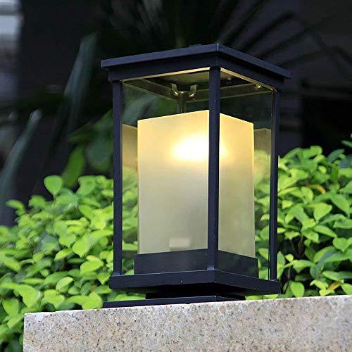 Lámpara de columna al aire libre estilo patio real iluminación de canal decoración de faros de columna iluminación de patio lámpara de patio antigua a prueba de agua Clasificación IP44