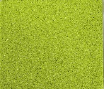 Gekleurd zand, decoratief zand gekleurd ca. 0,5 mm. 1 kg in groen lichtgroen appelgroen -53