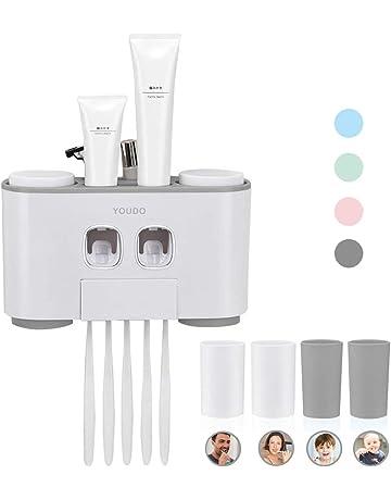 BovoYa/Dispenser di dentifricio Colore Casuale Dispenser di dentifricio Spremi Tubo con Ventosa Accessori da Bagno per Bambini e Adulti