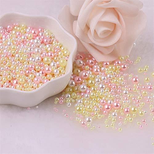 Xuping shop Mezcla Tamaño 2-8mm Sin Agujero Perlas Coloridas Redonda ABS imitación...