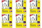 Avery Permanent ID Labels for Laser and Inkjet Printers, 2 x 2-5/8 -Inch 225 Labels, White,  6 Packs  (6572)