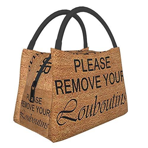 Bitte entfernen Sie Ihre Louboutins tragbare warme Lunchtasche, wasserdicht, großes Fassungsvermögen, für Büro/Schule/Picknick und Muttertasche.
