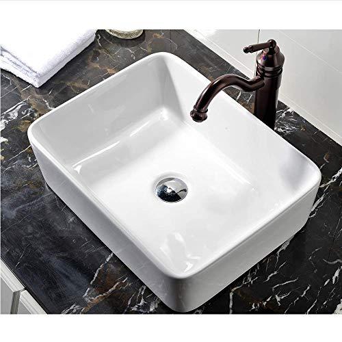 VCCUCINE Rectangle Above Counter Porcelain Ceramic Bathroom Vessel...