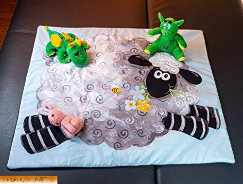 Kinder Baby Krabbel Kuschel Decke kleines Schaf