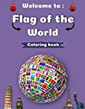 Flags of the world coloring book: +50 Flags from different countries around the world