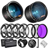 Neewer 55mm Lens and Filter Accessory Kit for Nikon AF-P DX 18-55mm and Select Sony Lens: 0.43X Wide Angle...