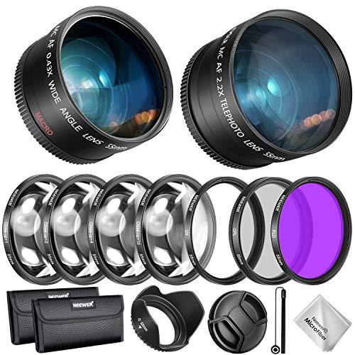 Objektiv- und Filterzubehör-Kit für Nikon AF-P DX und Select Sony 0.43X Weitwinkelobjektiv, 2.2XTelephoto, UV / CPL / FLD / Filter und Makrofilter-Set