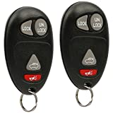 Key Fob Keyless Entry Remote fits Buick Century Regal Rendezvous/Oldsmobile Intrigue/Pontiac Aztek Grand Prix 2001 2002 2003 2004 2005 2006 2007 (L2C0007T), Set of 2