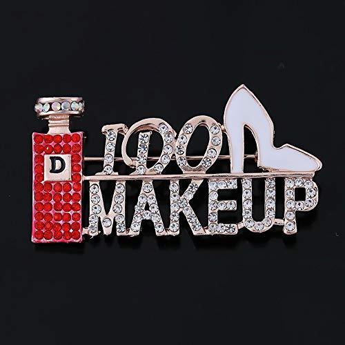 Dames rood parfum hoge hakken broche serie kleding accessoires 2.6 * 5.1cm