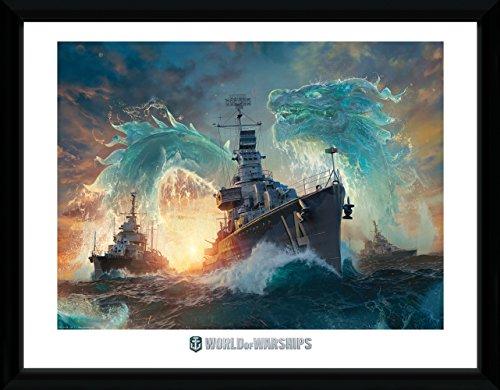 GB Eye Ltd World of Kriegsschiffe, Drachen Kunstdruck, gerahmt, 30x 40cm, verschiedene