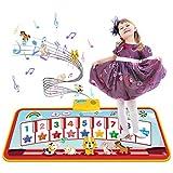 Tecboss Piano Matte, Musikmatte KinderKlaviermatte mit 8 Instrumenten Piano für Babys Kleinkind Jungen und Mädchen Geschenk