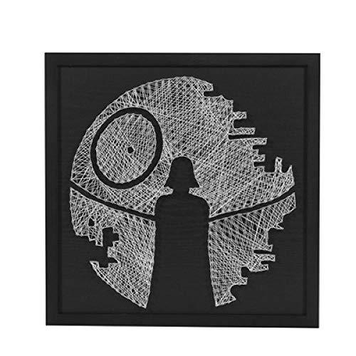 sswyfc Handgemaakte driedimensionale decoratieve schilderij met doos diy nagels wikkelen garen schilderij 40 * 40cm