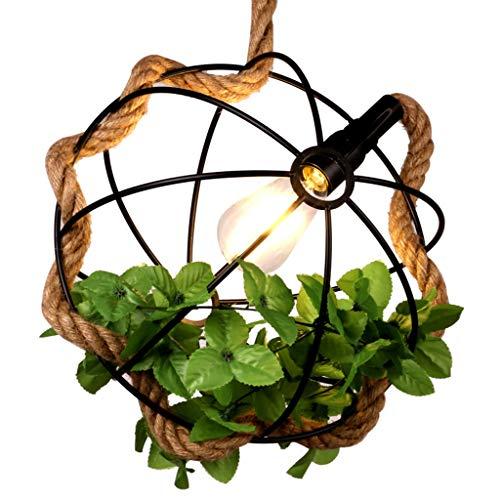 Rustieke hanglamp, kluis, plafondlamp, bloemen, hangers, café, thee, eetkamer, henneptouw, binnen